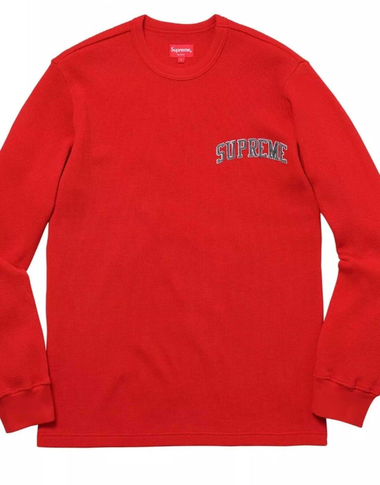 Supreme Arc Logo L/S Thermal ROT Größe XL