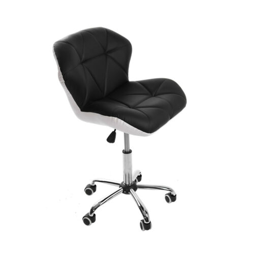 Swivel Chair Computer Desk Office Study PU Leather Adjustable Chair Chrome Base