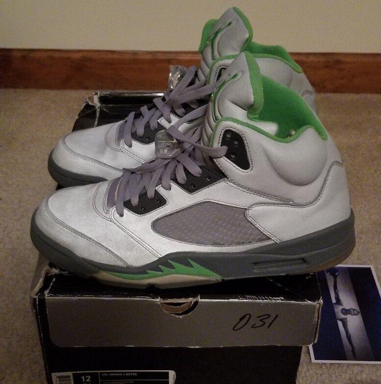 Nike Air Jordan 5 Retro 2006 Silver Green Flint Grey  (136027 031)