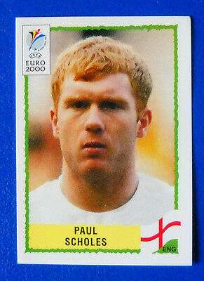 89 ENGLAND SCHOLES  TOP MINT WITH GREEN BACK Panini EURO 2000 N