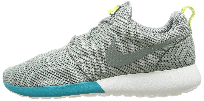 NIKE Rosherun NM Neu Free Presto Gr.40,5 Grau Grün  Sneaker Textil Sommer 90 New