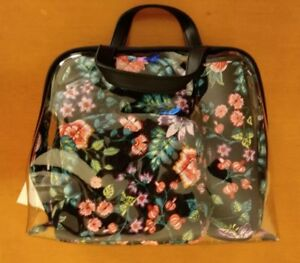 f8fe0c2ea6f7 New Vera Bradley Iconic 4-Pc Cosmetic Set Case Travel Vines Floral ...