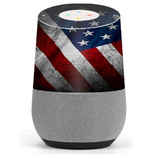 Skin Decal Vinyl Wrap for Google Home stickers skins cover// American Flag distr