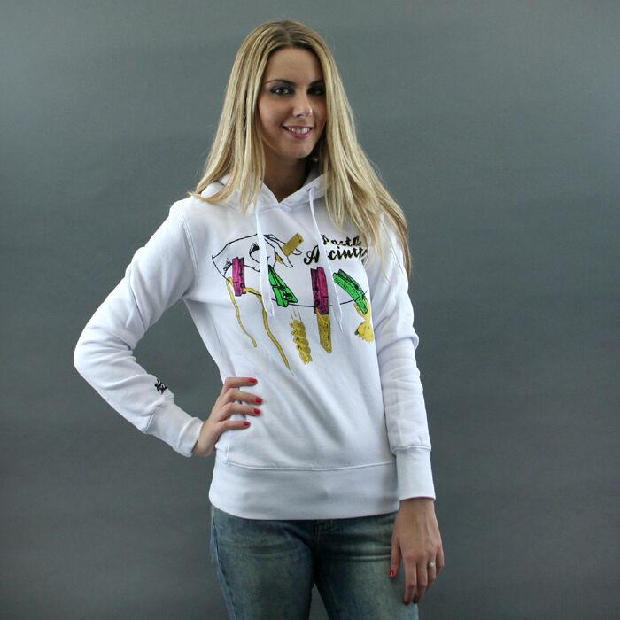 Blomor Hooded Sweatshirt Mod. Paste Dry White