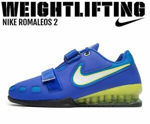 76457a69d4c5d Image is loading NIKE-Romaleos-2-Weightlifting-Powerlifting-Shoes- Gewichtheben-Schuhe
