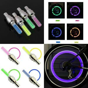 1-INDIVIDUAL-LED-CAP-bike-valve-stem-flashing-Light-Bicycle-Wheel-Tire-Tyre-Car