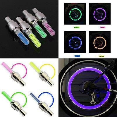 LOT 2x 4x 10x LED Bike Valve Stem Cap Flashing Light Bicycle Wheel Tire Tyre Car