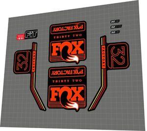 2016 Fox Factory-34 Fork Decal Set Light Blue