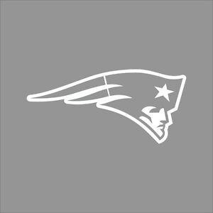 New England Patriots Nfl Team Logo 1 Color Vinyl Decal