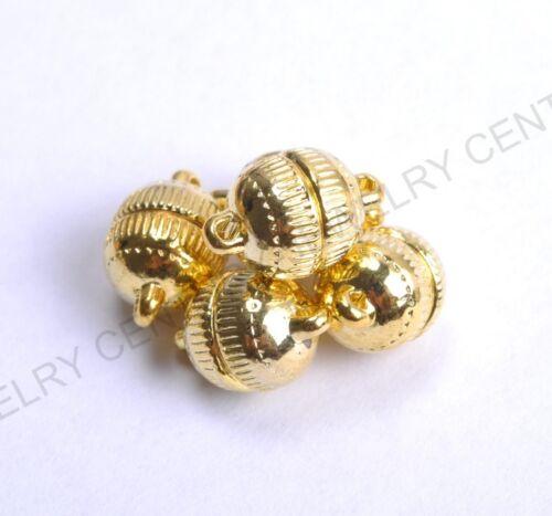 5 conjuntos de joyas De Plata//Oro Plateado a Rayas potente Broches Magnéticos 6MM 8MM 10MM