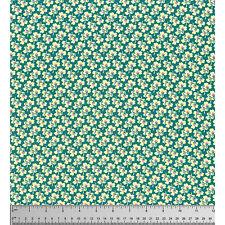 Freespirit Amy Butler PANSIES Green/Ivory Cotton Fabric-£10.00 per M - Free P&P