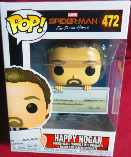 """HAPPY HOGAN WITH A CHECK NEW POP MARVEL FROM /""""SPIDER-MAN FAR FROM HOME/"""" #472"""