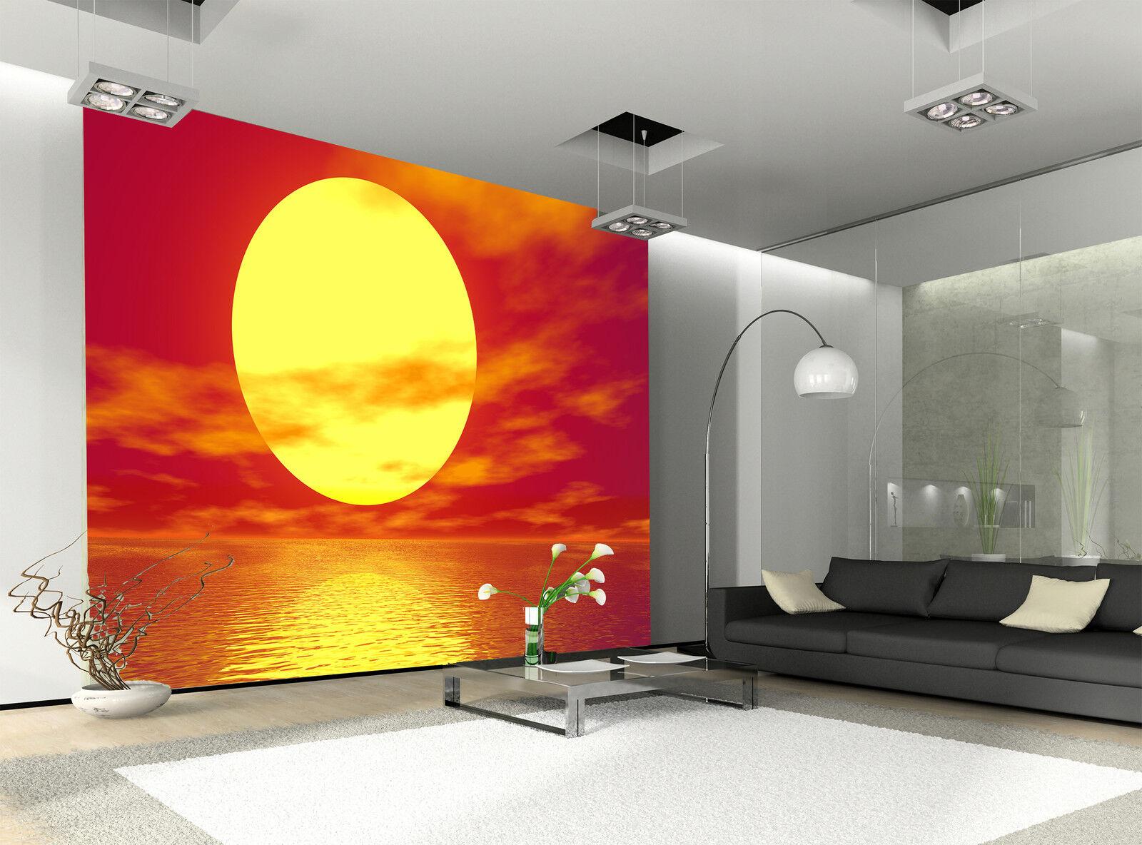 golden Sunset  Wall Mural Photo Wallpaper GIANT DECOR Paper Poster Free Paste
