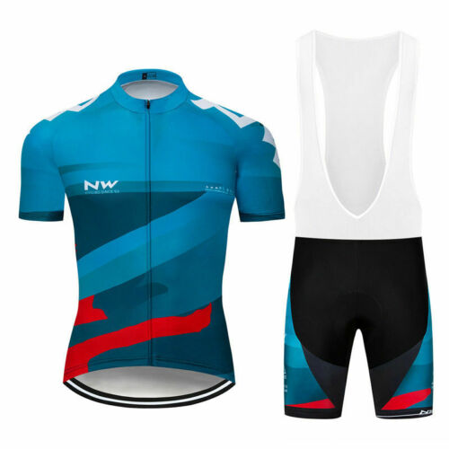 2019 New Bicycle uniform Men Team Bike Cycling Jersey Bike shirt bib Shorts Suit