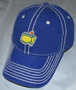 MASTERS (BAY BLUE/GRAY) STITCH-OUT Slouch Golf HAT from AUGUSTA NATIONAL