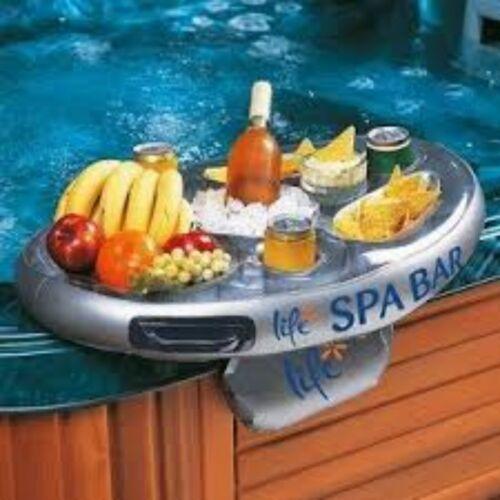 Spa gonflable Bar Spa Spas flottant boissons et plats titulaire vie plateau gamme