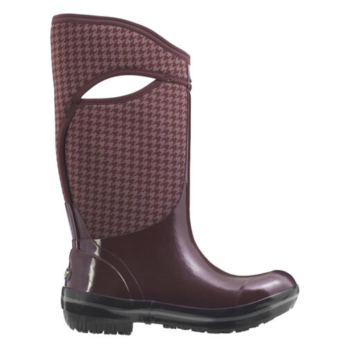 LADIES BOGS PLIMSOLL HOUNDS AUBERGINE INSULATED WARM WELLIES BOOT EGPLNT 72030