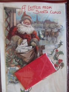 Vintage-Christmas-Card-UNUSED-NOS-A-Letter-From-Santa-Claus-Tucked-in-Card