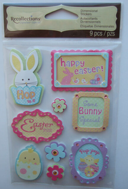 ~HAPPY EASTER~ Recollections Dimensional Stickers; Bunny, Egg Hunt, Chicks