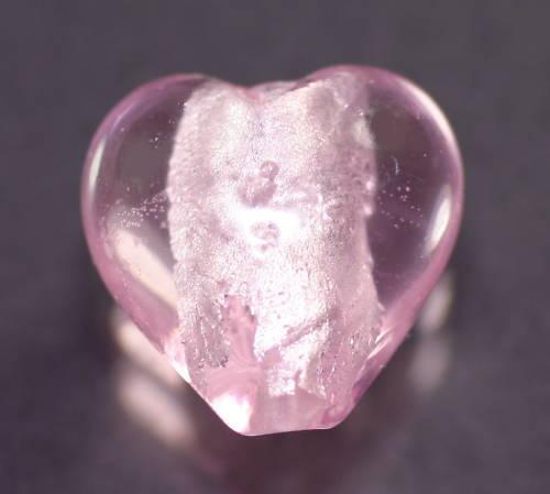 8 pièces Beads Perles Perles De Verre pink heart