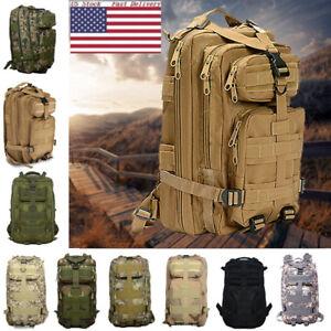 Camo Hiking Camping Bag Army Tactical Trekking Rucksack Outdoor Backpack BJ