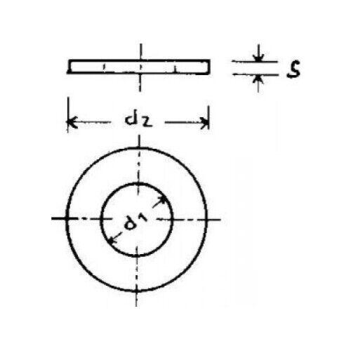 1000 x  U-Scheiben DIN 125-A2 4,3mm VE1000