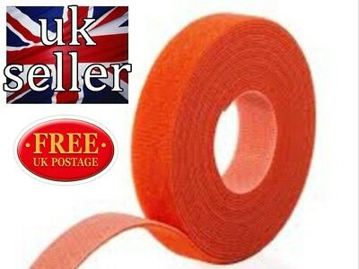 VELCRO® Brand Hook and loop ONE-WRAP® back 2 back Strapping 10mm Red X 5metres