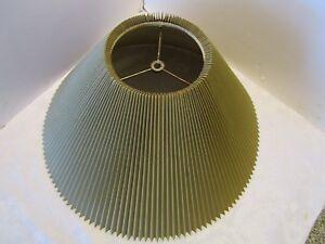Image Is Loading Vintage Lamp Shade Pleated Accordion  Cardboard Fiberglass Lined