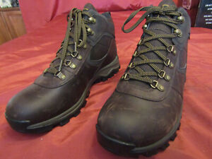 Men's Timberland Mt Maddsen Waterproof Hiking Leather Boots Brown TB02730R Sz 12