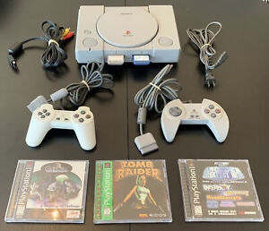 Sony PS1 PlayStation 1 SCPH-5501 Console, 2 Controllers, 3 Games, More - Tested