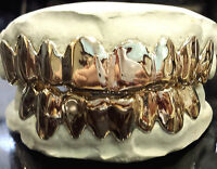 Solid 10k White Gold Custom Fit Real Grill Gold Teeth Grillz.