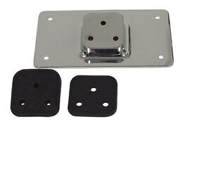 HARLEY-CHROME-NUMBER-LICENCE-PLATE-MOUNT-KIT-LOW-PROFILE-LAY-BACK-3-HOLE-MOUNT