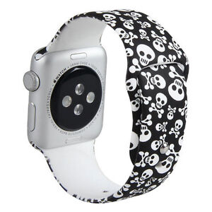 Skull Silicone Sport Band Strap For Apple Watch Iwatch 38mm 42mm 40mm 44mm Ebay