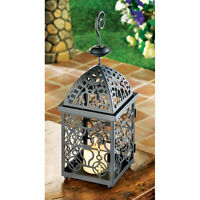 Moroccan Style Birdcage Matte Black Candle Holder Lantern Decor New13175