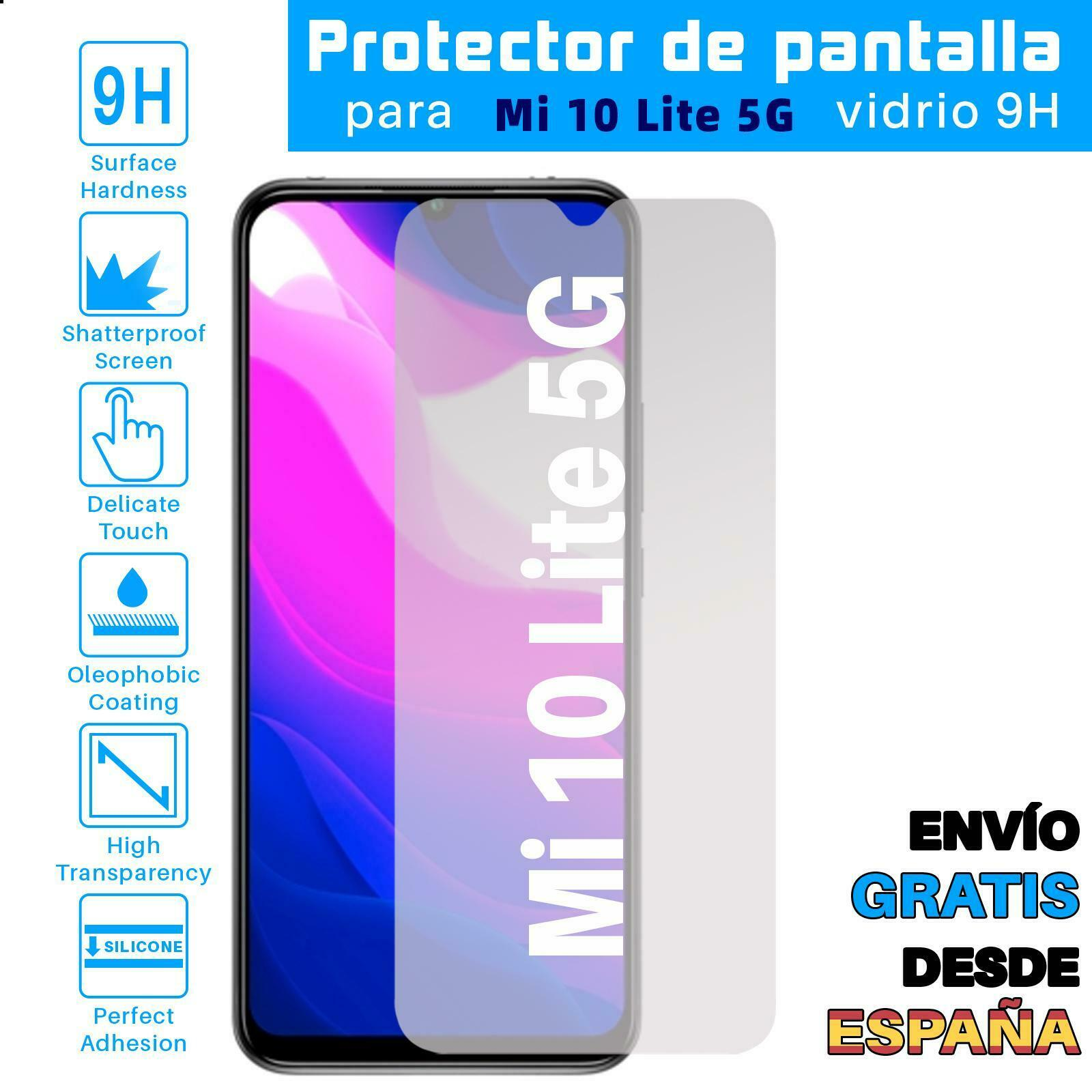 Protector de Pantalla para Xiaomi Mi 10 Lite 5G Cristal Templado Vidrio
