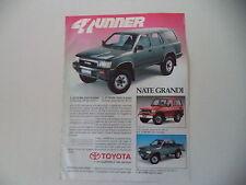 advertising Pubblicità 1991 TOYOTA 4 RUNNER/HILUX/LJ 70 TD