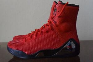 27f33effc1ba Nike Kobe IX 9 High KRM EXT QS Challenge Red Snakeskin 716993-600 Sz ...