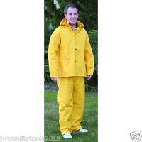 Xx-large Men's Vinyl Long Yellow Rain Coat Suit Raincoat With Hood Rainsuit