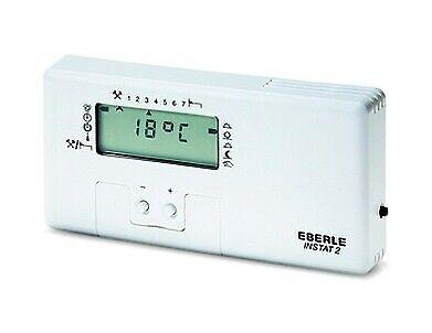 Eberle Uhrenthermostat digital 3V 16A reinweiß Woche 10-40°C 3 Jahre INSTAT+2R