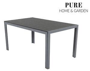 Détails sur Table de jardin aluminium 100 x 70 cm Résistant aux intempéries  mobilier de jardin en aluminium Fire si Table de balcon- afficher le titre  ...