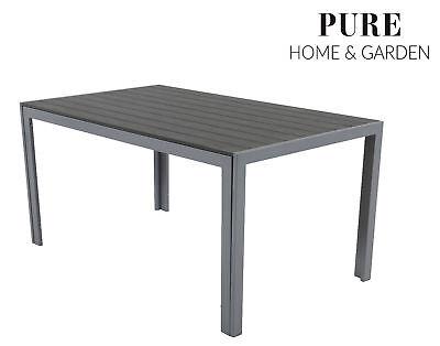 Table de jardin aluminium 100 x 70 cm Résistant aux intempéries mobilier de  jardin en aluminium Fire si Table de balcon   eBay