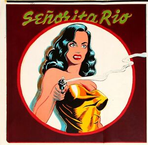 Mel-Ramos-Senorita-Rio-Orig-lithograph-three-of-these-available-mint-cond-1964