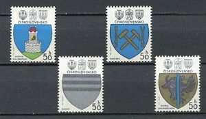 33307-Checoslovaquia-1980-MNH-Coat-Of-Arms-4v