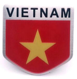 Aufkleber-Vietnam-Auf-Kleber-Wappen-Sticker-3D-Metall-selbstklebend-Wappen-Auto