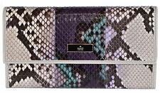 New Gucci Women's 257303 Ombre Python Snakeskin Wallet W/Coin Pocket