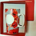 Starbucks 2015 Dot Series Red Poppy Flower Coffee Mug Tea Cup 16 Oz 473ml