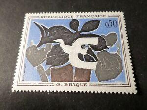 FRANCE-1961-timbre-1319-TABLEAU-PEINTRE-BRAQUE-LE-MESSAGER-neuf