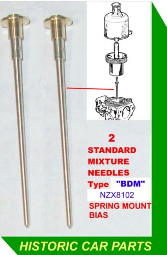 "2 x STANDARD MIX NEEDLES /""BDM/"" for 1¾"" HS6 SU Carb on TRIUMPH TR7 2.0 1974-76"