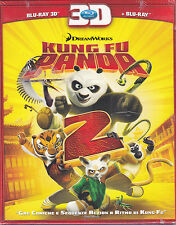 Blu-ray 3D + Blu-ray 2D **KUNG FU PANDA 2** DreamWorks nuovo slipcase 2011