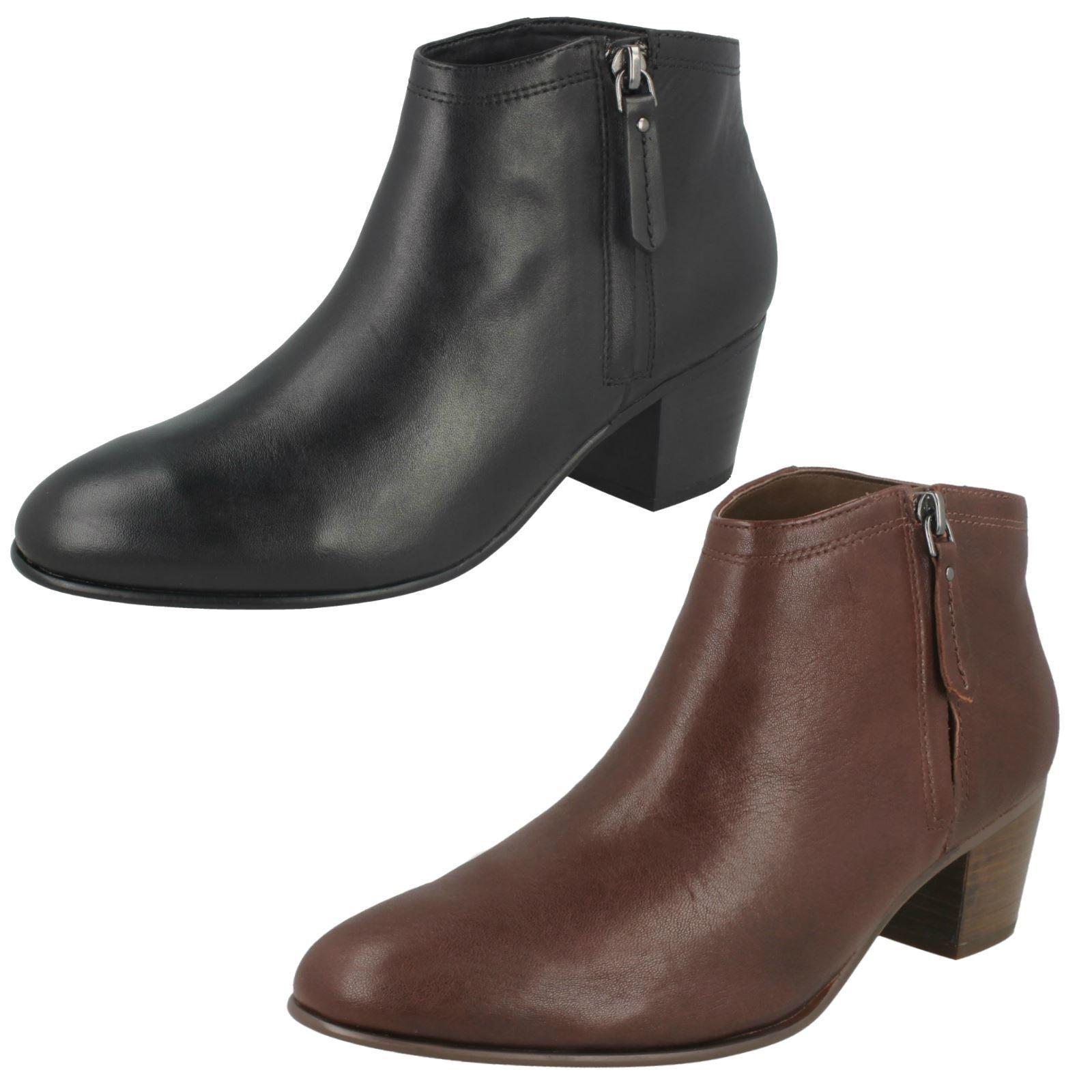 Damas Damas Damas Clarks maypearl Alice Caoba O Cuero Negro botas al tobillo  centro comercial de moda